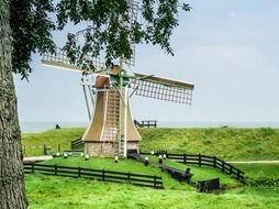 windmill at zuiderzee outdoor museum
