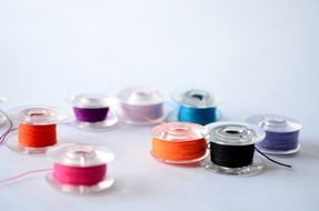 spools thread sewing sew textile