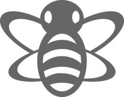 Grey honey bee