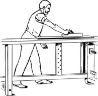 graphic image of a joiner at work