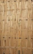 Wall made of bamboo