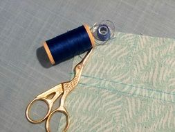 sewing thread and scissors