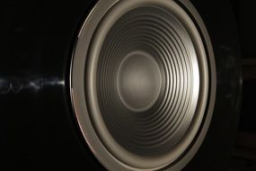 closeup of a speaker