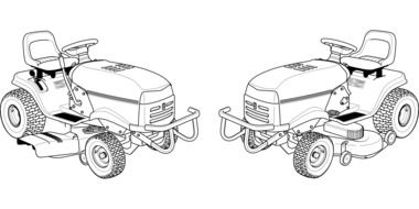 lawnmower tractor drawing