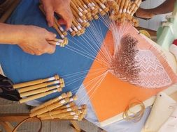 bobbin lace crafts sewing tissue