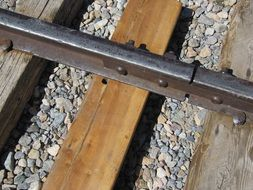 railroad tracks closeup