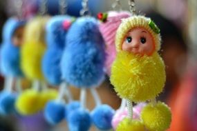 doll key chain cute toy gift