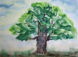 tree painting drawing