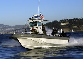 fast military navy training boat