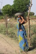 woman working in India