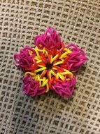 colorful flower on a craft