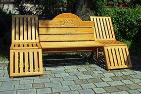 bench bank wooden
