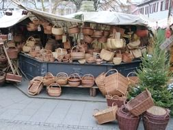 selling baskets on the market