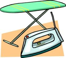 drawing ironing board and iron