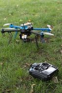 radio-controlled drone on grass