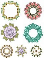 flower frames drawing
