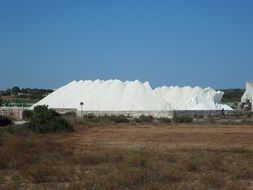 Salzberg salt mountain white