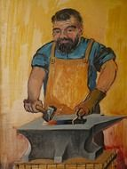 blacksmith craft profession drawing