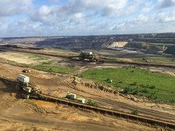 open pit mining commodity removal