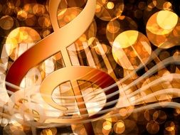 Musical treble clef clipart