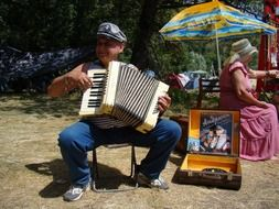 accordion player man