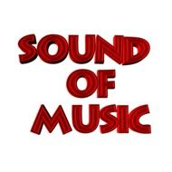 Signature of sound of music in red letters
