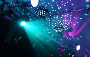 colorful disco lighting
