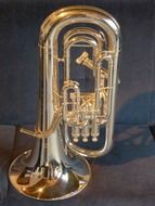 Top view of Euphonium