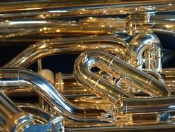 Euphonium is a copper musical instrument