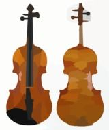 front and rear view of a violin