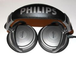 Philips headphones on a light background