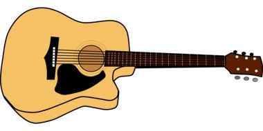 acoustic guitar black brown musical instrument drawing