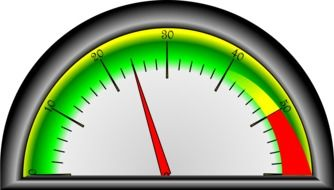 pressure gauge as a colorful graphic image