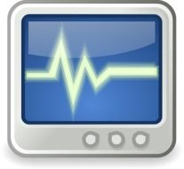System monitor for the heart beat clipart