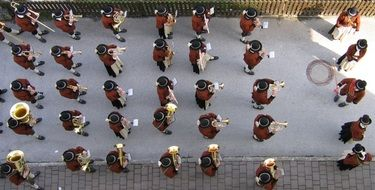 music band top view