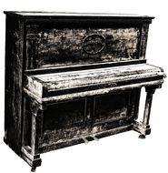 graphic image of an old piano