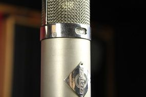 Studio microphone close-up