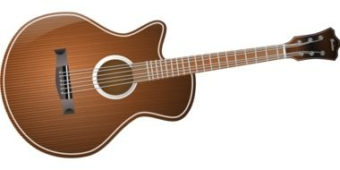 acoustic guitar brown musical instrument drawing