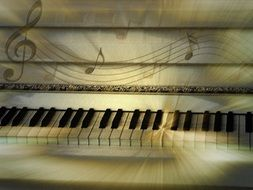 keys of white piano