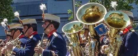 music band on a parade