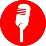 microphone red icon drawing