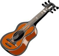 Drawing of acoustic stringed guitar