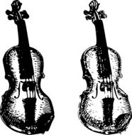 graphic image of two violins