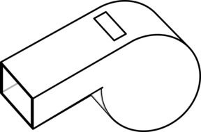clipart of the whistle