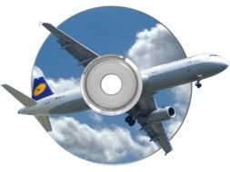 photo montage cd and aircraft