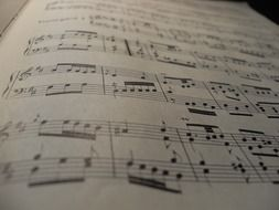 sheet music with classical music
