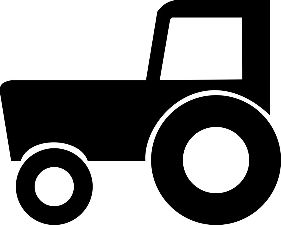 tractor, black and white icon