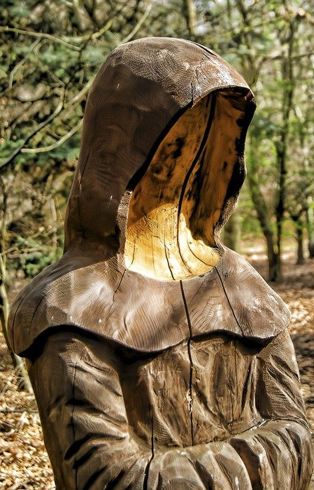 sculpture wood face