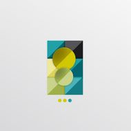 Modern abstract geometric info banner N2