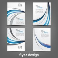 Set of business flyer template brochure or cover design